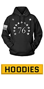 Tactical 1776 Black Hoodie for Men