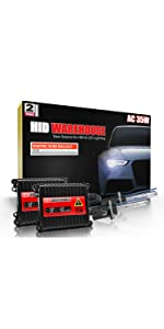 9006 4300K 43K Bright Daylight Xtremevision DC 35W Xenon HID Lights with Premium Slim Ballast 2 Year Warranty