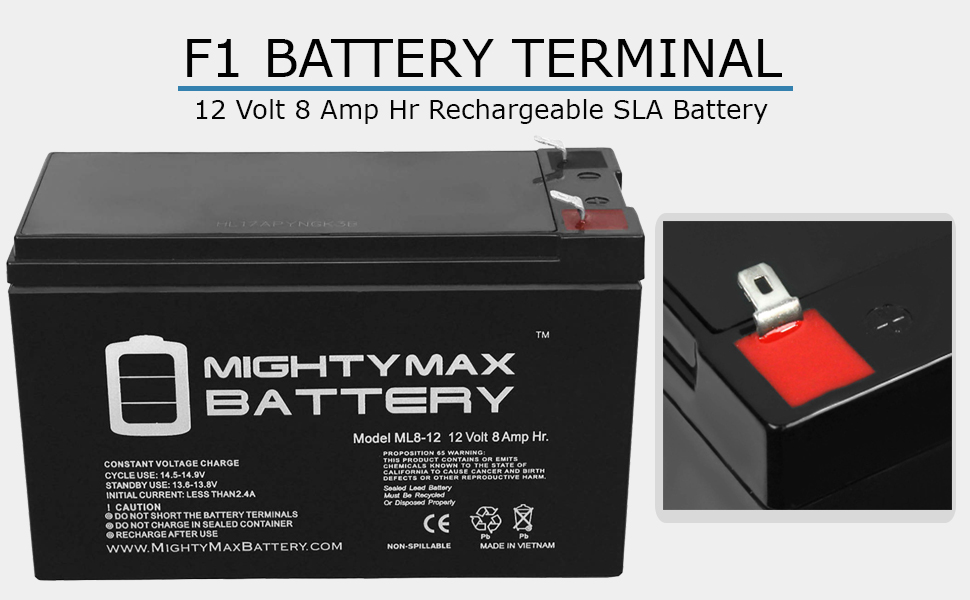 replacement battery rechargeable battery 12 v 8 ah battery f1 terminal battery maintenance free