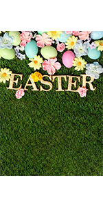 Colorful Easter Eggs Photography Backdrop 5x7ft Wallpaper Picture Party Banner