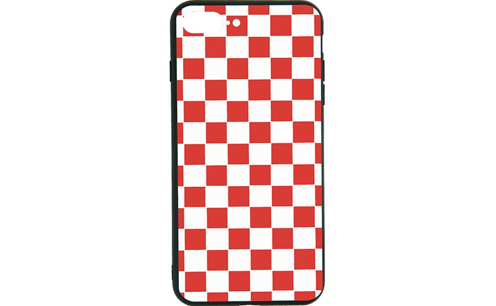 red white grid case