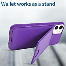 iphone 11 wallet case leather folio women men detachable magnetic stand car mount vena silk wireless