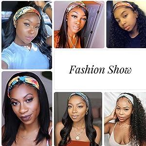 Headband Wig, Headband Wigs Human Hair, Headband Wigs for Black Women