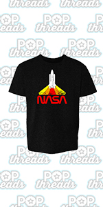 Pop Threads NASA Approved Space Program Logo Retro Graphic Youth Kids Girl Boy T-Shirt