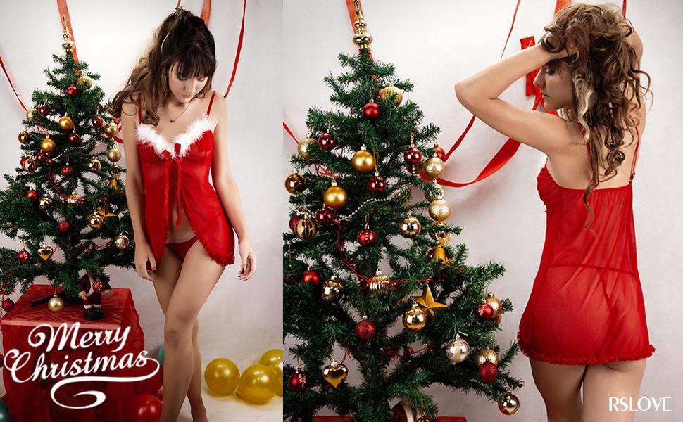 Women's Sexy Santa Lingerie Set