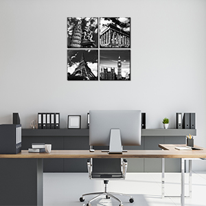 office canvas painting office decorations  black and white paintings