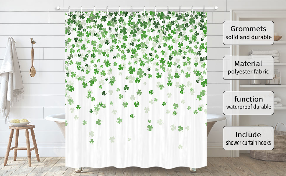 JAWO st.patrick shower curtain for the bathroom
