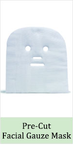 esthetic cotton gauze pre-cutfacial paraffin high frequency treatment wipe pad full face mask spa
