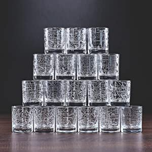 stack whiskey glasses Map