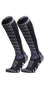 WEIERYA 2 Pairs Ski Socks for Skiing Snowboarding