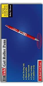 Red Gel Pens