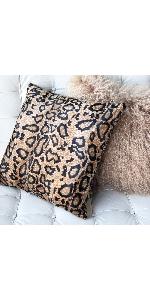 Snake Skin Velboa Accent Throw Pillow