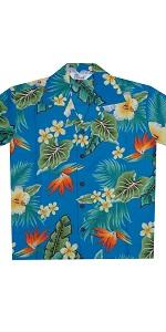 Flower Print Hawaiian Shirts for Boys