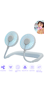 Neckband Fan-White