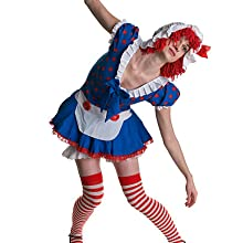 Raggedy Doll, Annabelle Costume Cosplay Striped Knee High FashionCasual Tube Cotton Socks
