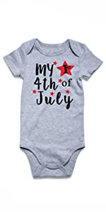 my 1st 4th of july baby onesies