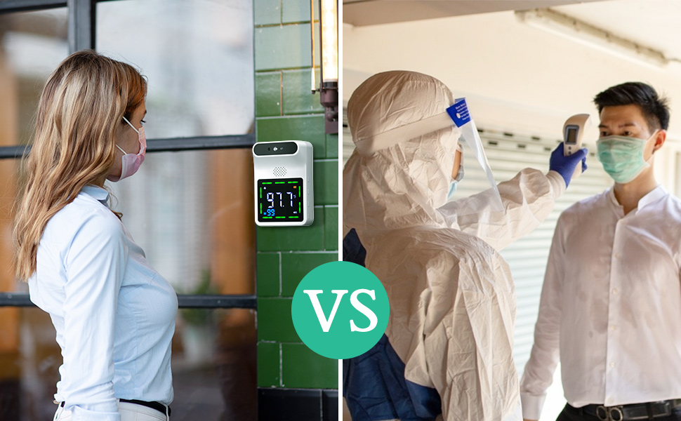 wall vs handheld thermometer