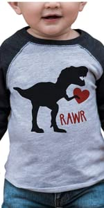 boys dinosaur valentines day shirt