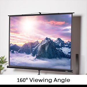 Wrinkle free PVC projector screen.