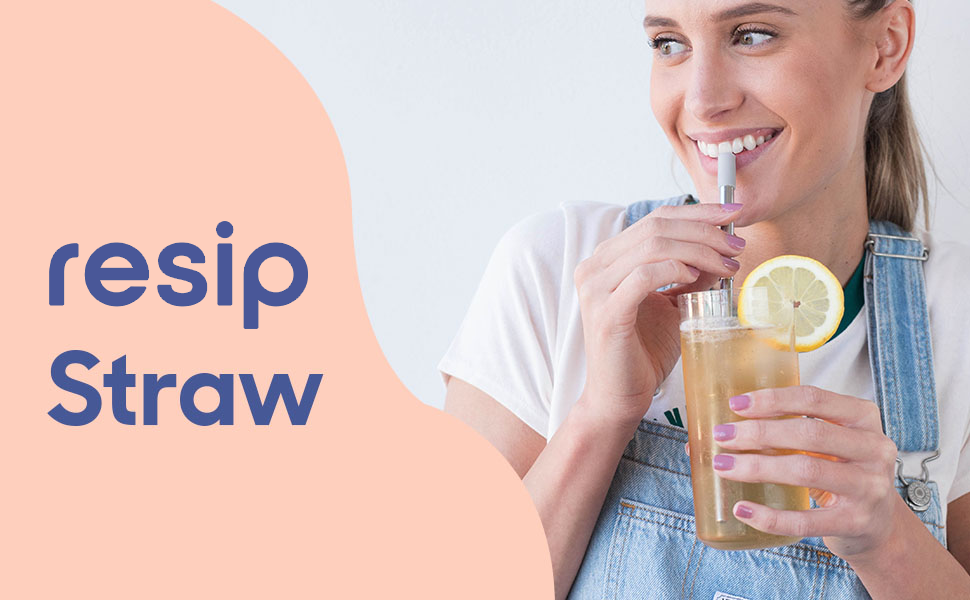 resip is a reusable stainless steel straw that is portable and fits in your pocket