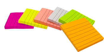 lined sticky notes multi colors
