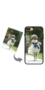 customized photo phone case for 7 8 plus add your photo text logo protective silicon phone case diy