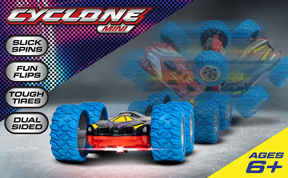 Cyclone Mini Remote Control Car For Kids Double Sided Fast Off Road Stunt Mini Rc Cars For Boys And Girls Rc Flip Car