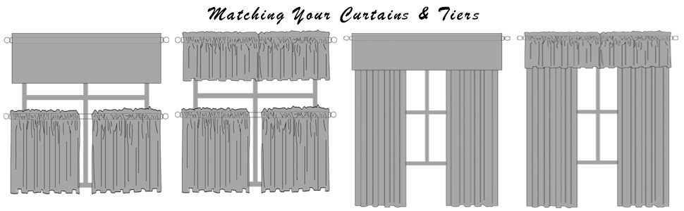 match curtains and tiers