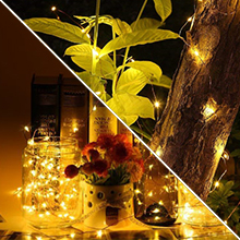 fairy lights 100 led warm white copper wire string lights waterproof bendable indoor outdoor decor