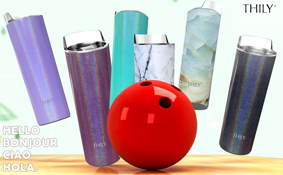 THILY 20oz vacuum insulated travel skinny tumbler