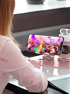 ULAK 3 in 1 Aluminum cell phone stand for girls women  for  iWatch, AirPod and iPhone