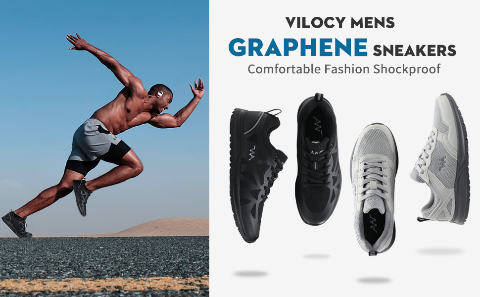 VILOCY MENS GRAPHENE SNEAKERS
