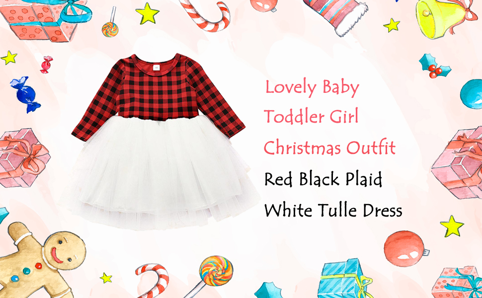 red plaid dress for baby girl