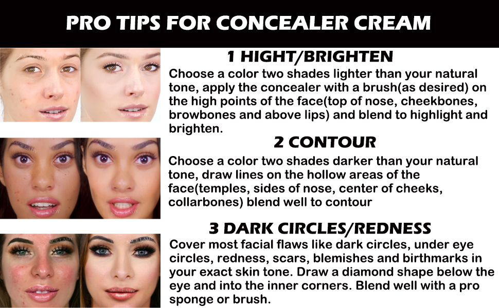 concealer highlighter contour