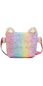 rainbow kids purse for little girls
