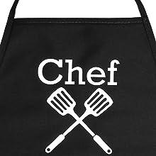 Chef Spatulas Customizable Personalizable Personalizar Apron Mandiles Delantales Mujeres Hombres
