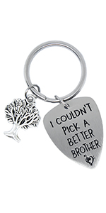 Keychain for Friend, Stainless Steel Keyring as Christmas Gift