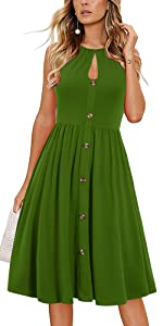 Halter Sundress With Buttons
