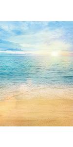 Summer Beach Backdrop