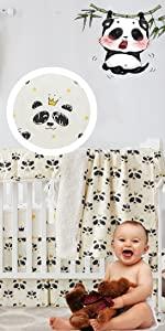 black white crib bedding set