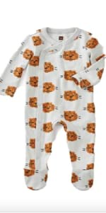 Tea Collection Footed Romper, Cuddly Cubs Design