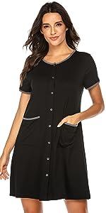 women button down nightgown