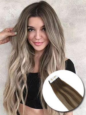tape in hair extensions balayage
