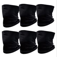 6Pcs Solid Color Bandanas Outdoor Face Mask
