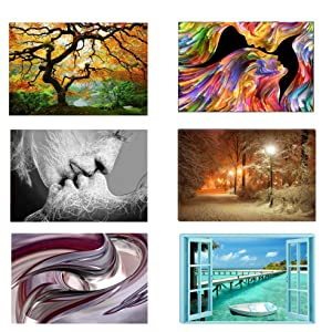 canvas wall art nature abstract trees black and white beach red landscape glow dark artwork photo