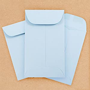 baby blue #3 coin envelope