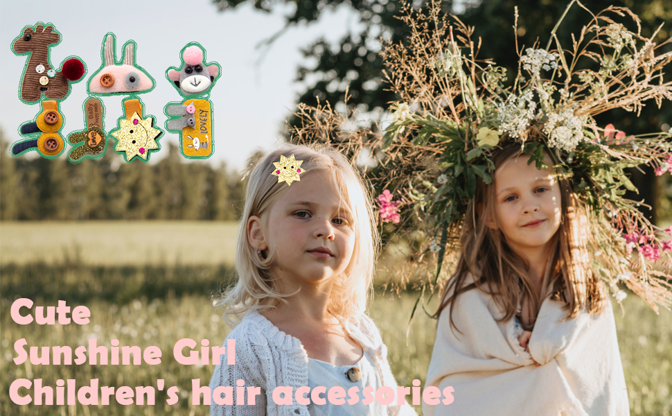 Hair Clips Set for Little Girls