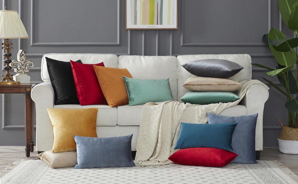 black sofa pillow cover