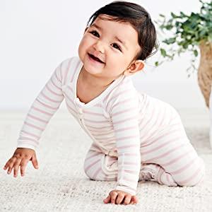 Boody body baby infant shower gift onesie footie blanket sleeper boy girl pink blue striped pajama