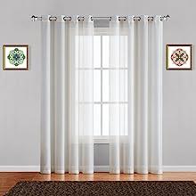karina curtains sheer panel pair sliding room door scarf valance beige drape swag patio wall